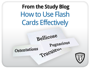 How to use flashcards effectively