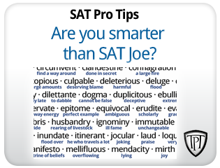 Are you smarter than SAT Joe?